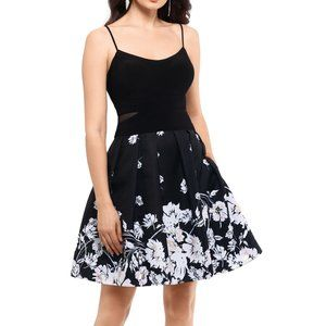New Xscape Printed Fit & Flare Prom Party Dress